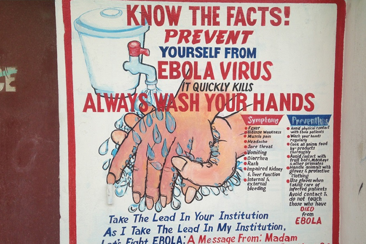 Health promotion is a key part of preventing infection in healthcare settings and in the community (an example from Liberia).