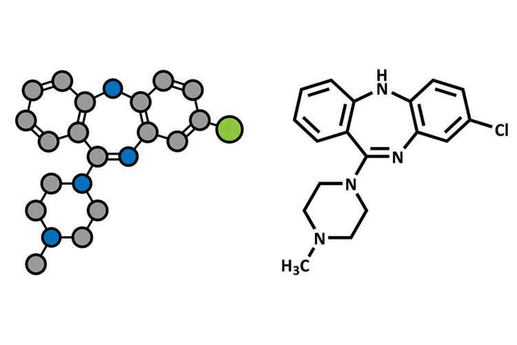 Clozapine molecule