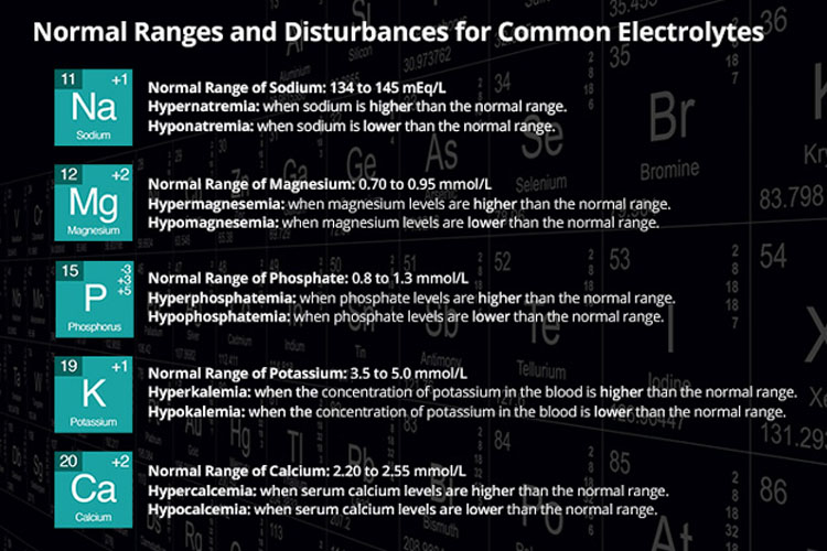 normal electrolyte levels infographic