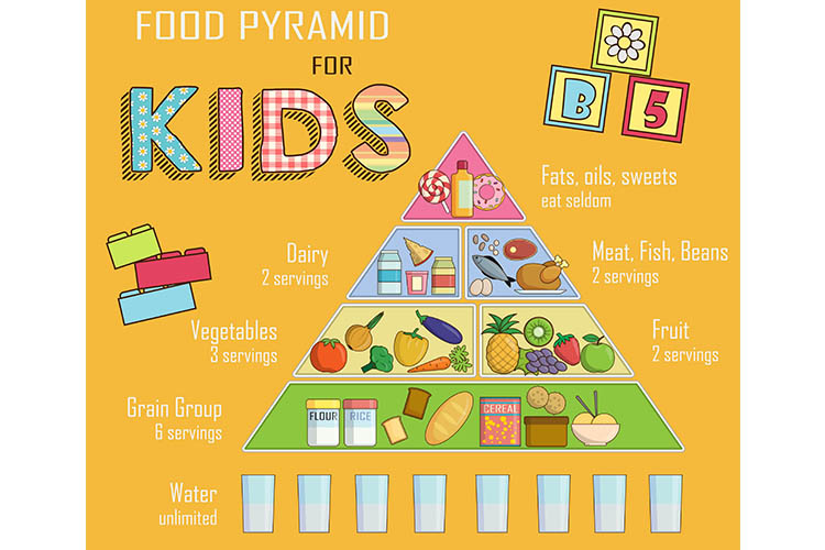 Food pyramid for kids | Image
