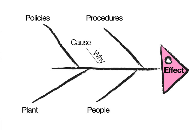 The Cause and Effect (a.k.a. 'Fishbone') Diagram Morning Medications Round