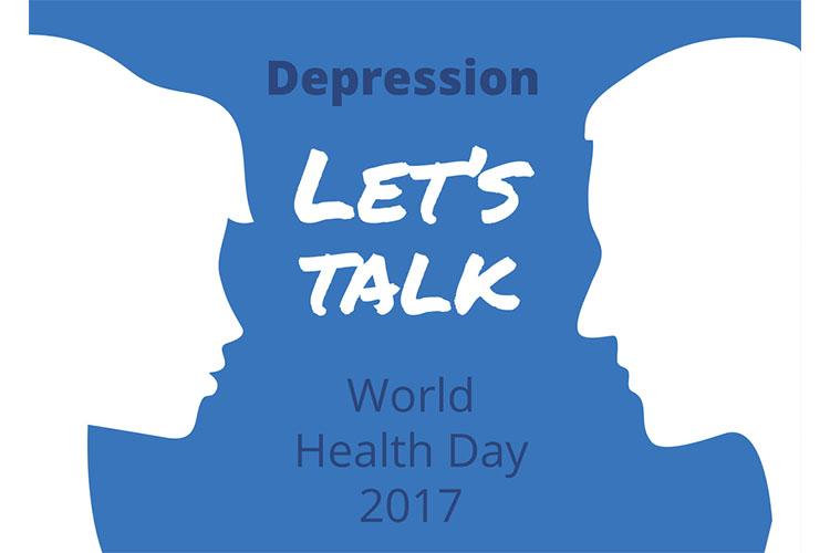 Depression - Let's talk - World Health Day 2017 | Image
