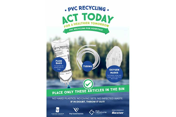 Ways to dispose fluid bags, tubing, and oxygen masks - PVC recycling day | Image